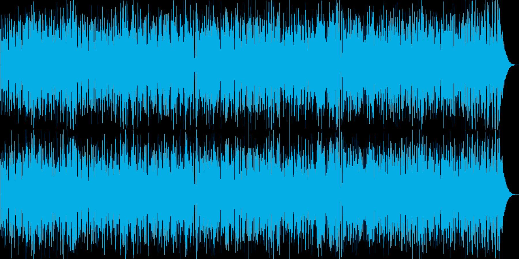 ポップでさわやかなスウィングジャズの再生済みの波形