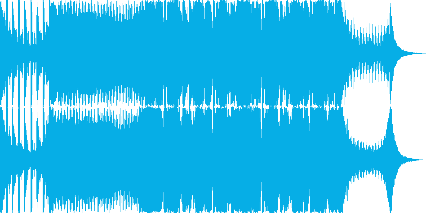 ダーティーでアブストラクトなダブステップの再生済みの波形