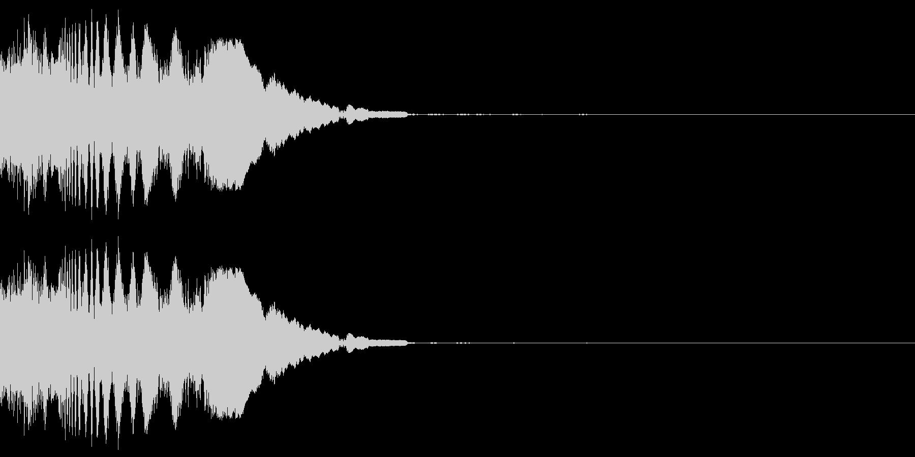 ピキッ(感情:怒る)の未再生の波形