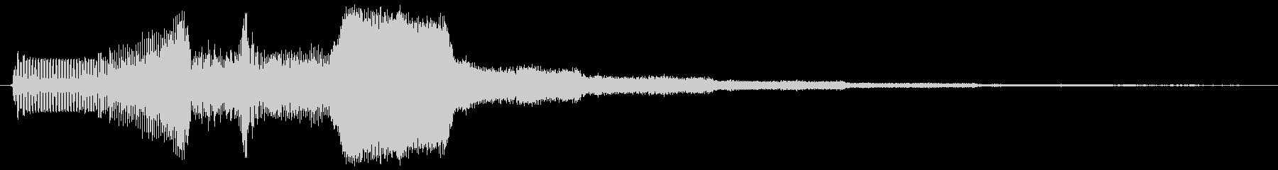 ピュイィィ。上がる・伸びる音(短)の未再生の波形