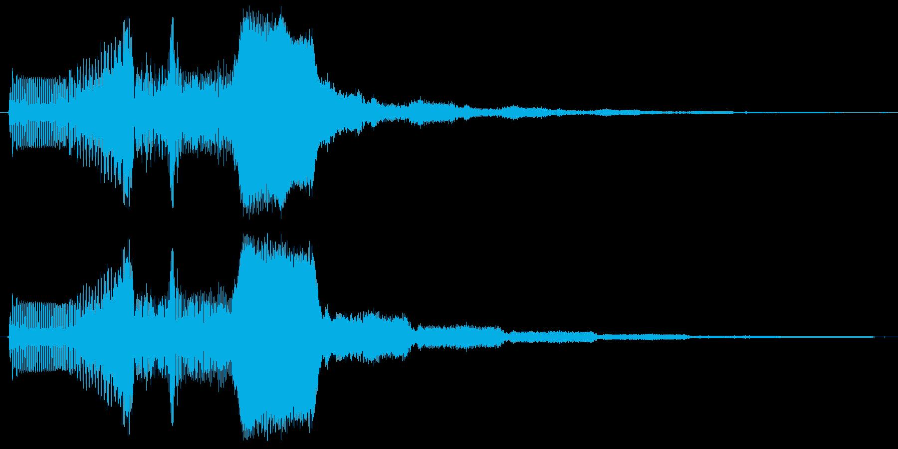 ピュイィィ。上がる・伸びる音(短)の再生済みの波形