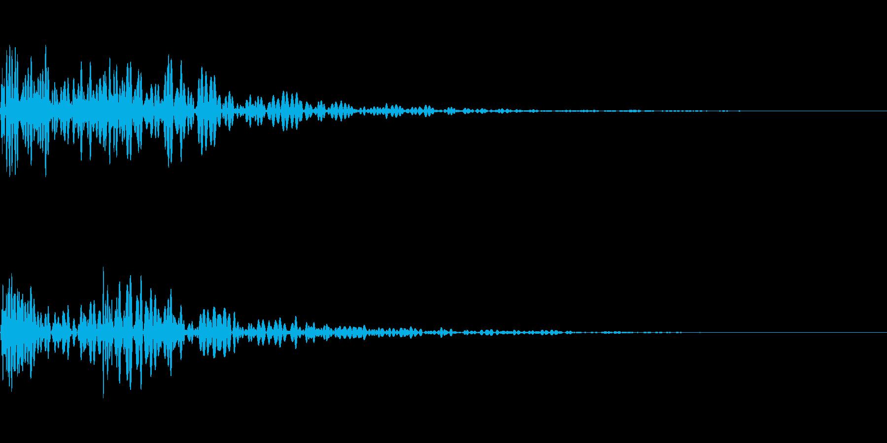 ドックン(心臓、心音、鼓動)の再生済みの波形