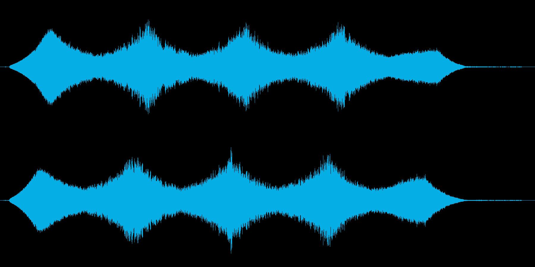 キーンとした機械の作動音の再生済みの波形