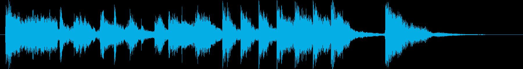 元気なラテン/マンボのジングルの再生済みの波形