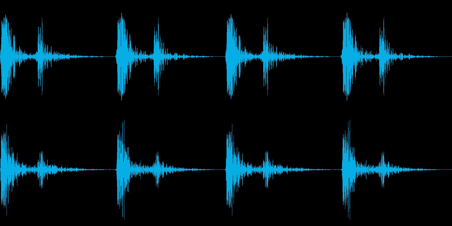 心臓音の再生済みの波形