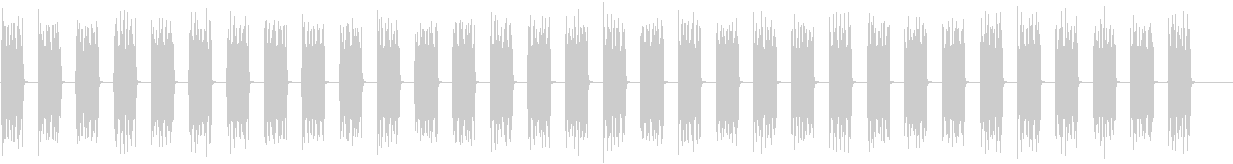 目覚まし時計の音の未再生の波形