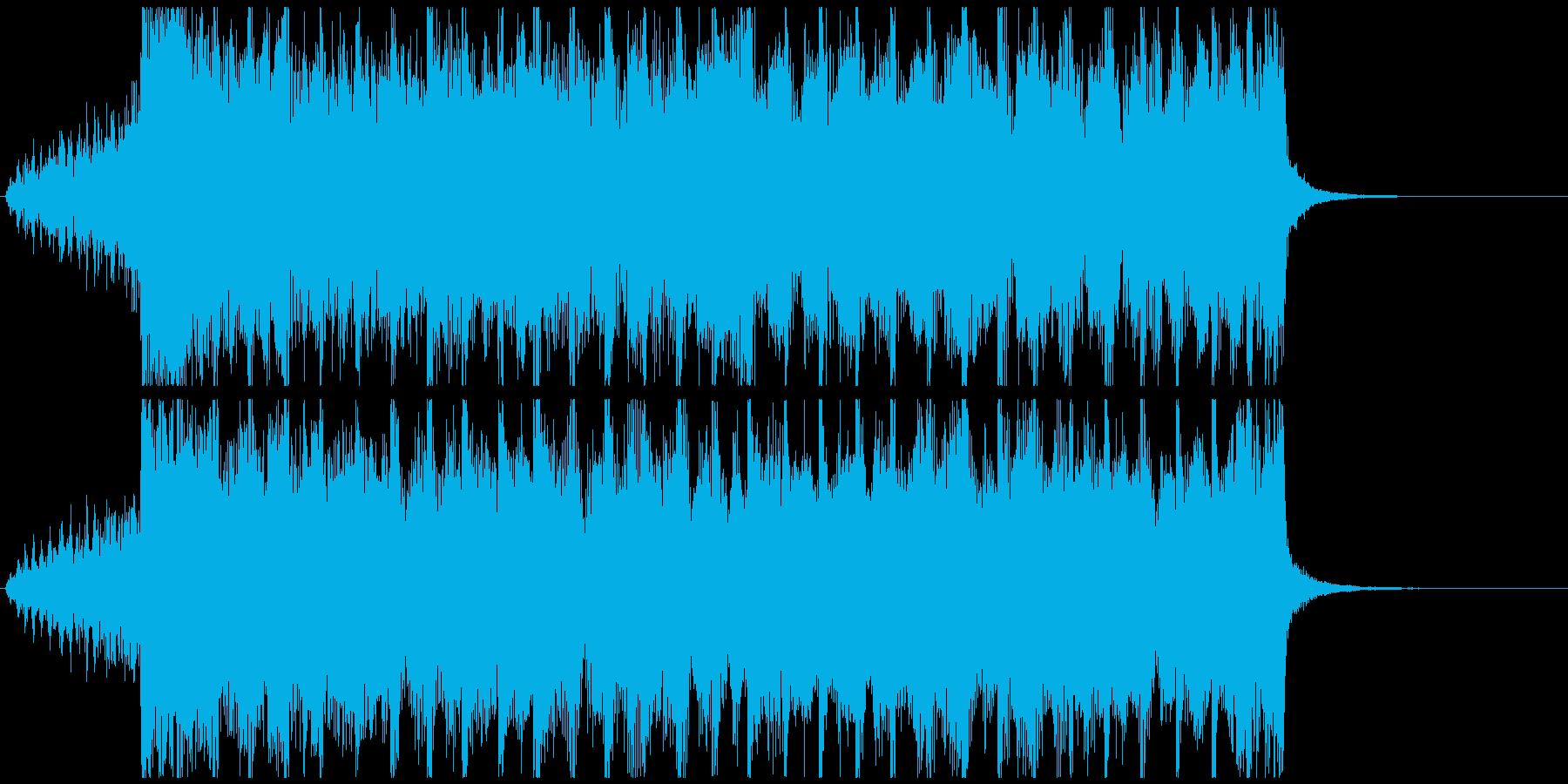 企業VP向け、爽やか4つ打ちポップ15秒の再生済みの波形