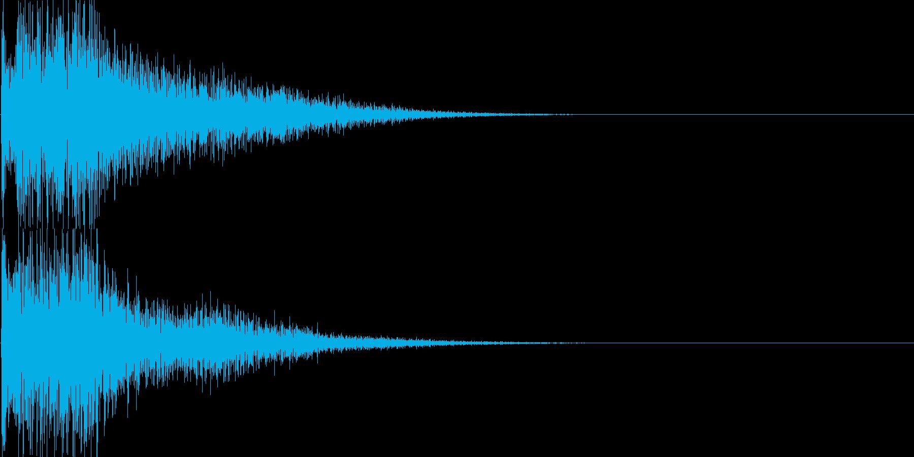 ジャラーン(決定音、起動音、ゲーム等に)の再生済みの波形