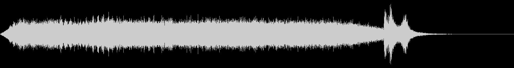 ワープ 宇宙的 未来的な効果音 02の未再生の波形