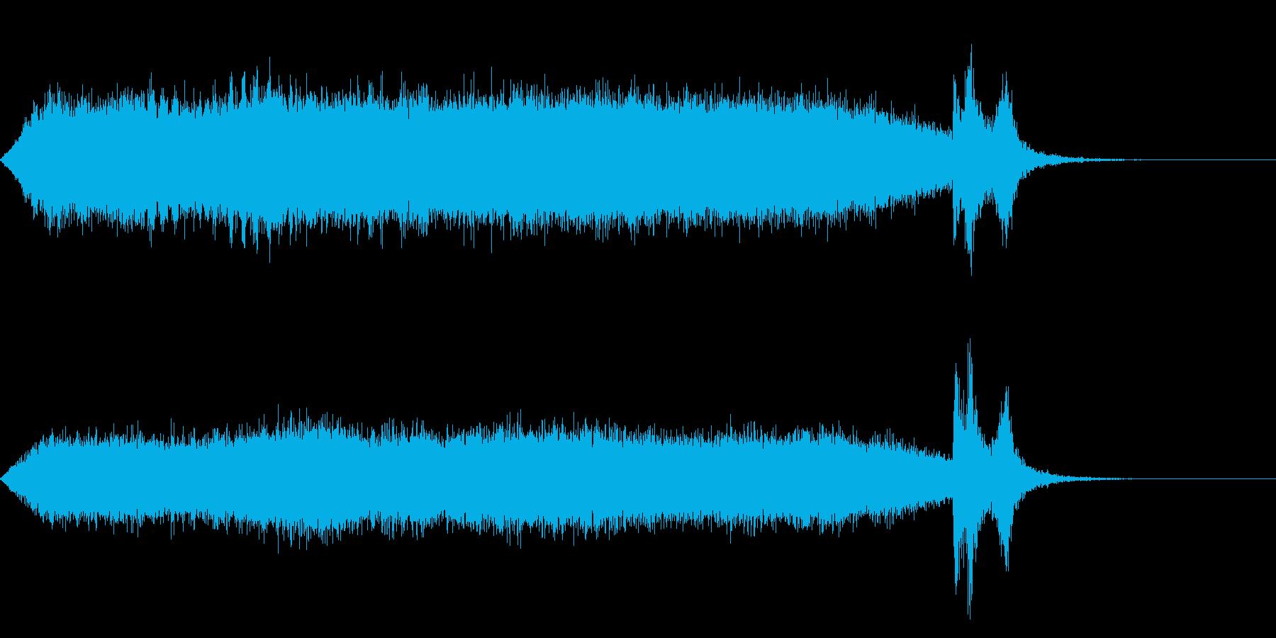 ワープ 宇宙的 未来的な効果音 02の再生済みの波形