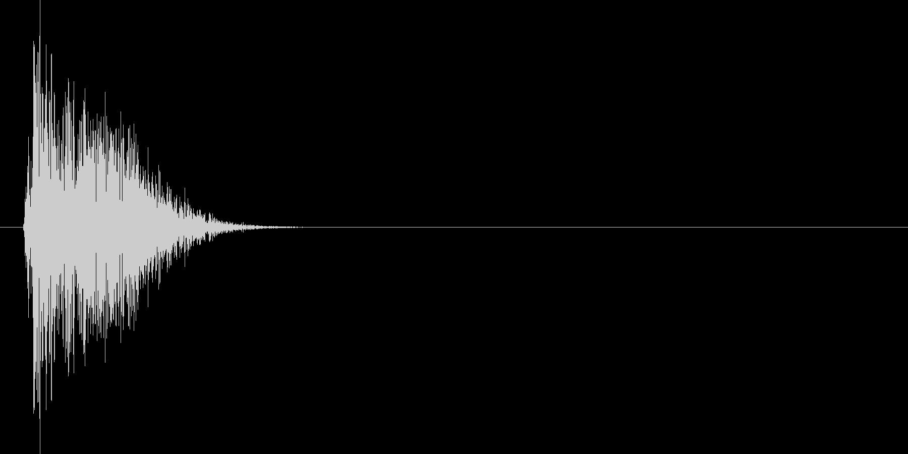 シャッ(ひっかく、攻撃、爪)の未再生の波形