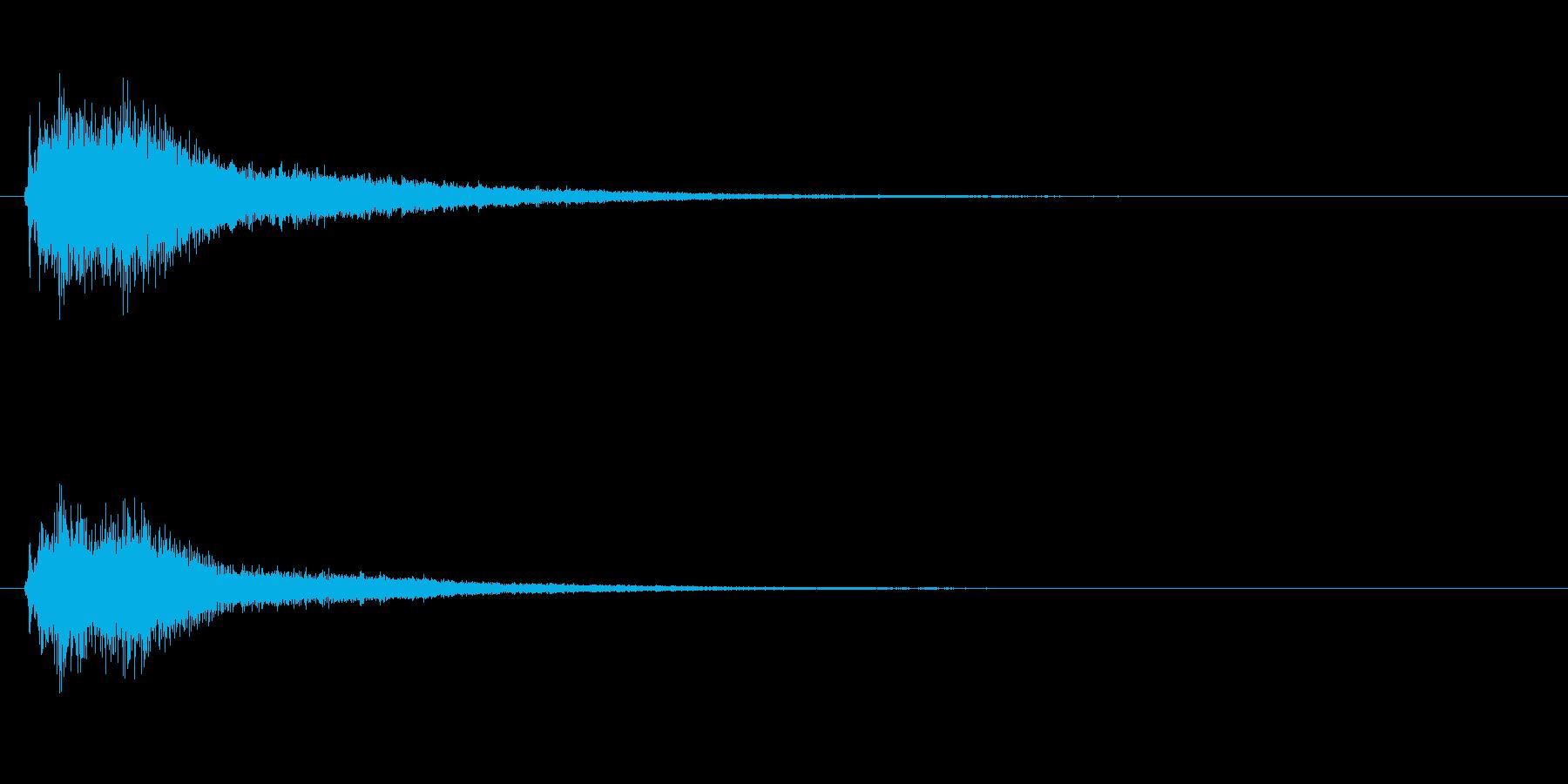 【ジャジャーン】オーケストラヒット2音の再生済みの波形