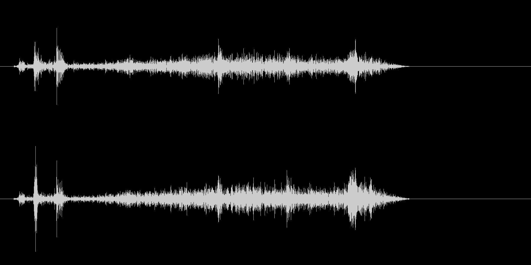 ビシュー(紙が動く音)の未再生の波形