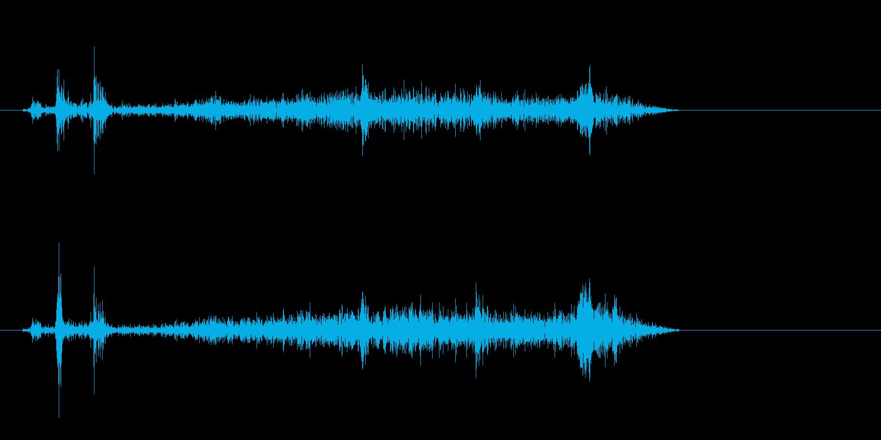 ビシュー(紙が動く音)の再生済みの波形