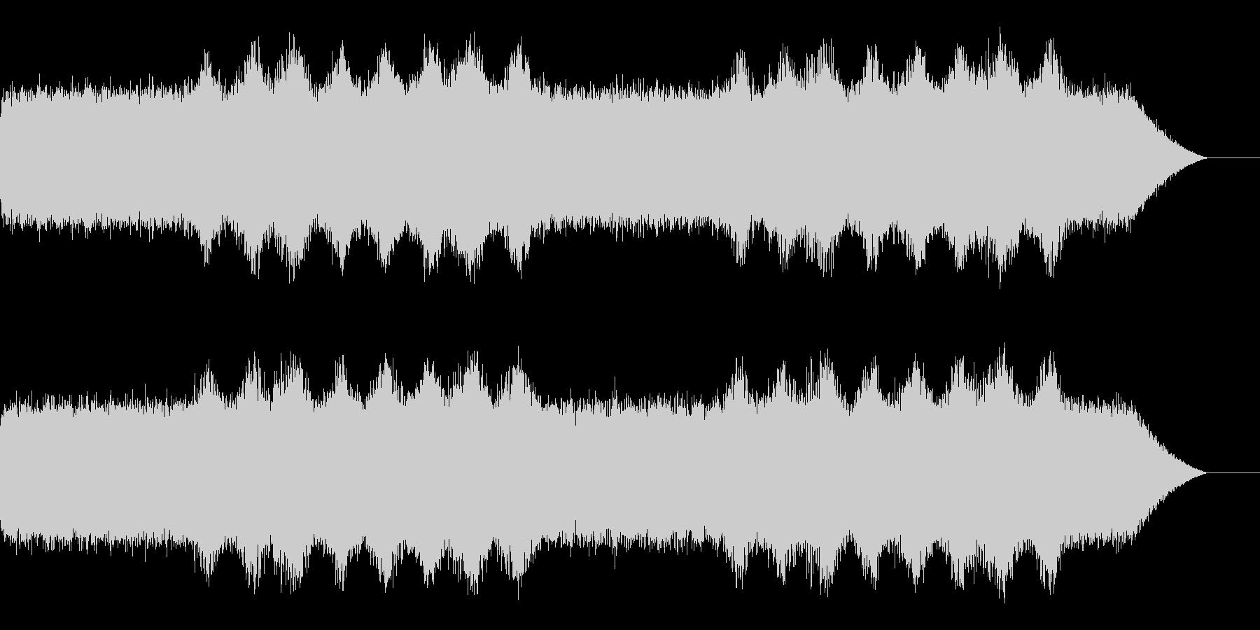 ホラーや不気味なシーンでのBGMの未再生の波形