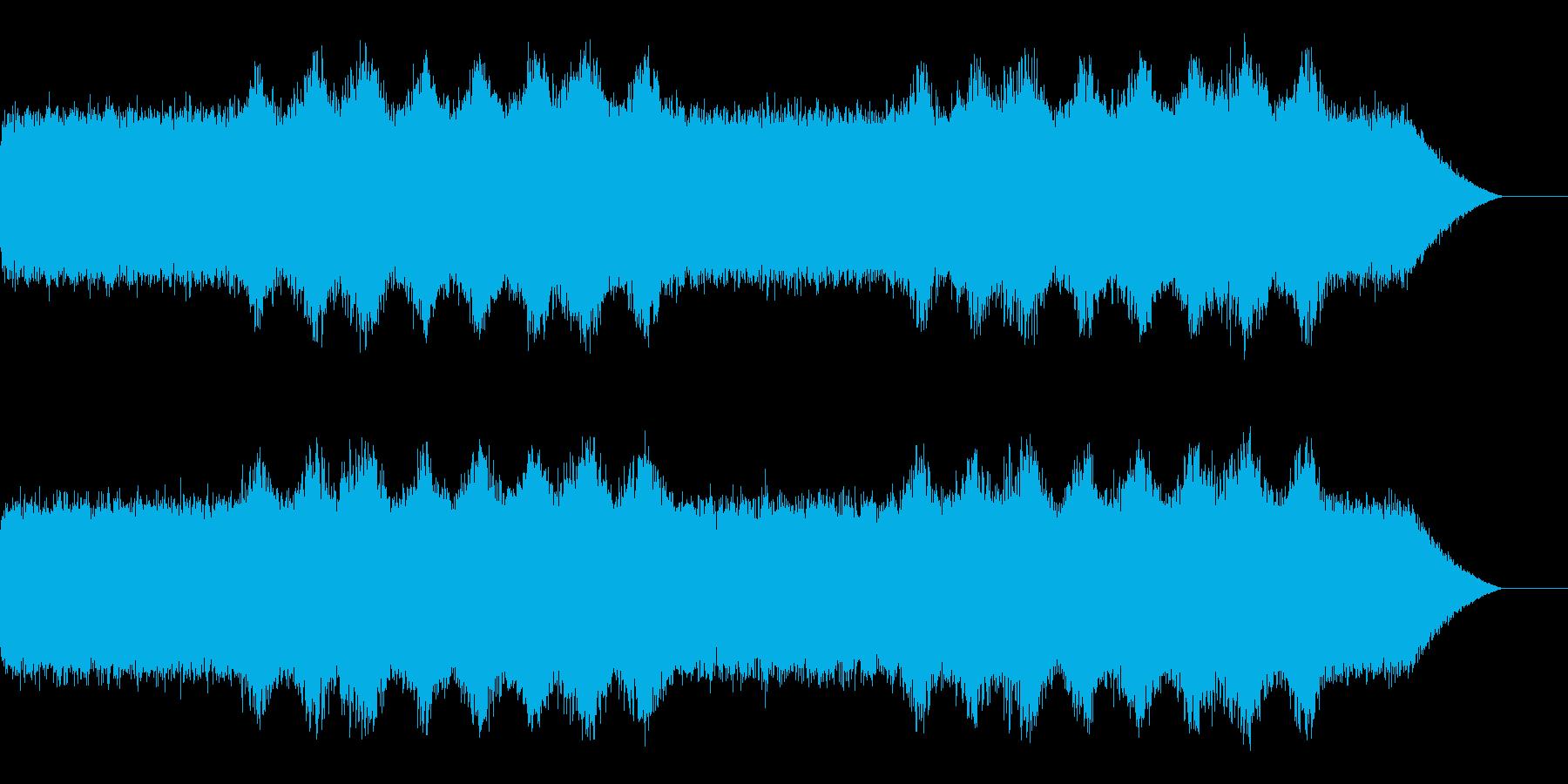 ホラーや不気味なシーンでのBGMの再生済みの波形