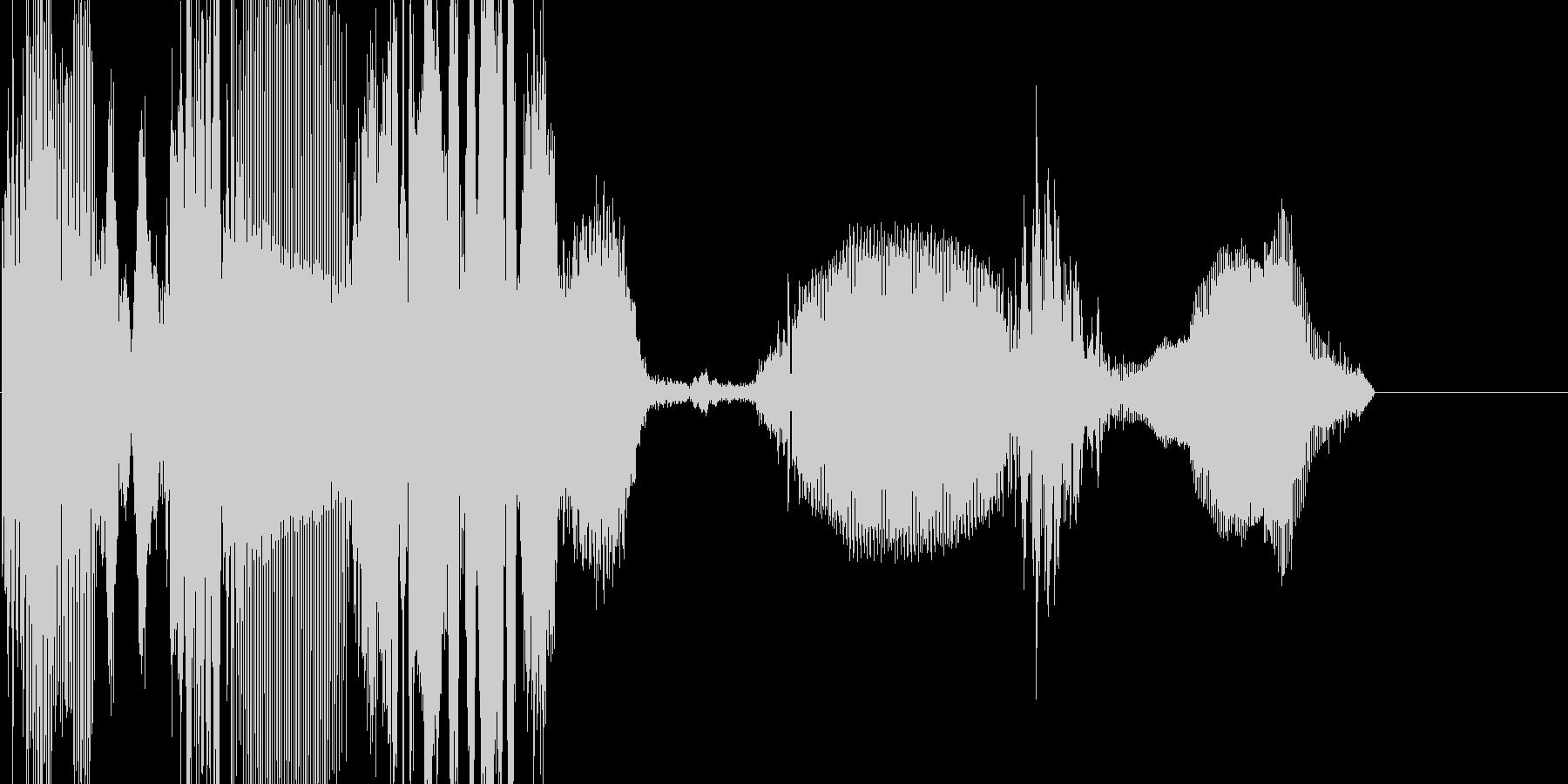 ロングノイズの未再生の波形