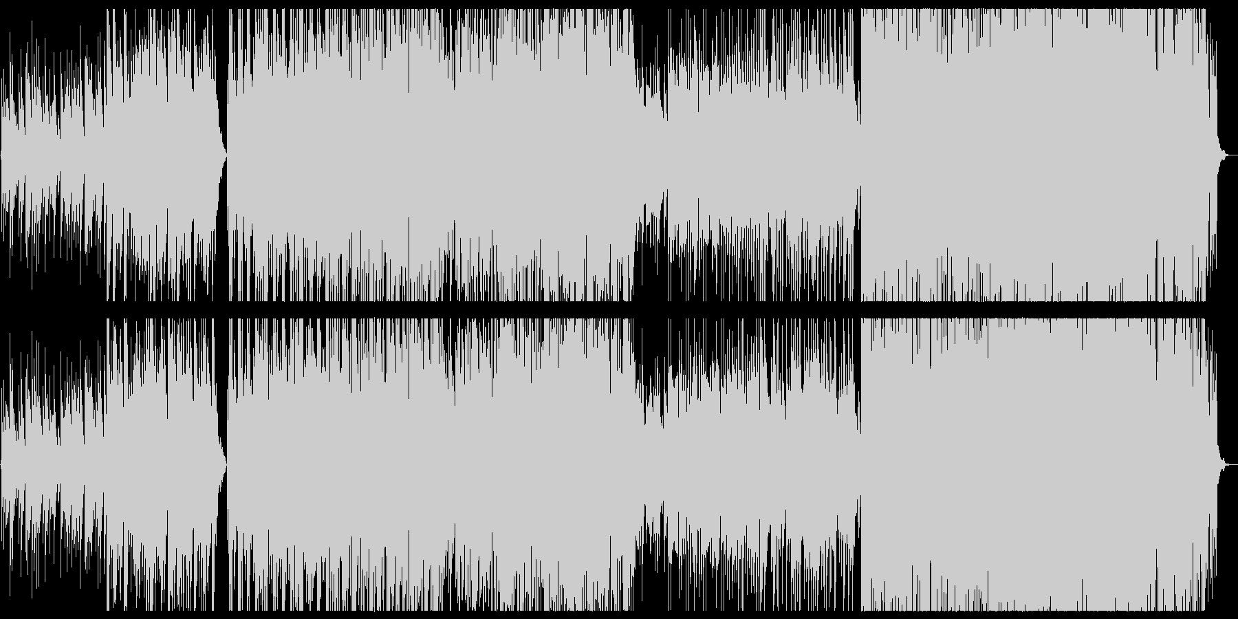 シンセを使った和風音階のエレクトロニカの未再生の波形