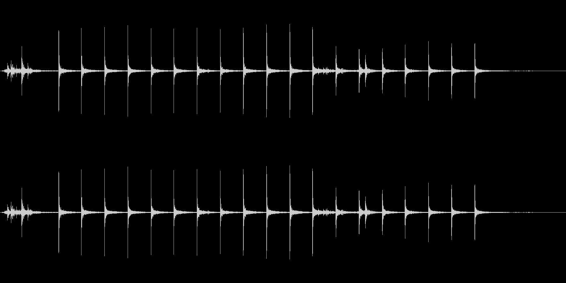 ガスコンロに火をつける音の未再生の波形