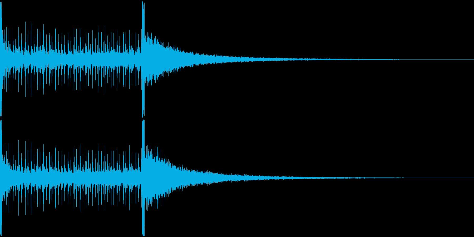 ドラムロールBの再生済みの波形