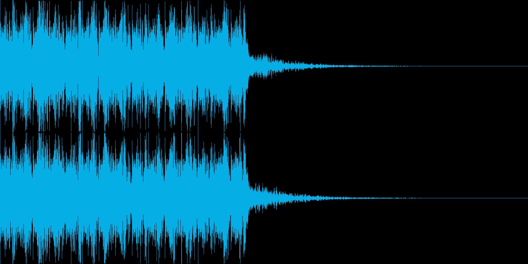 エレクトロ風ジングルの再生済みの波形