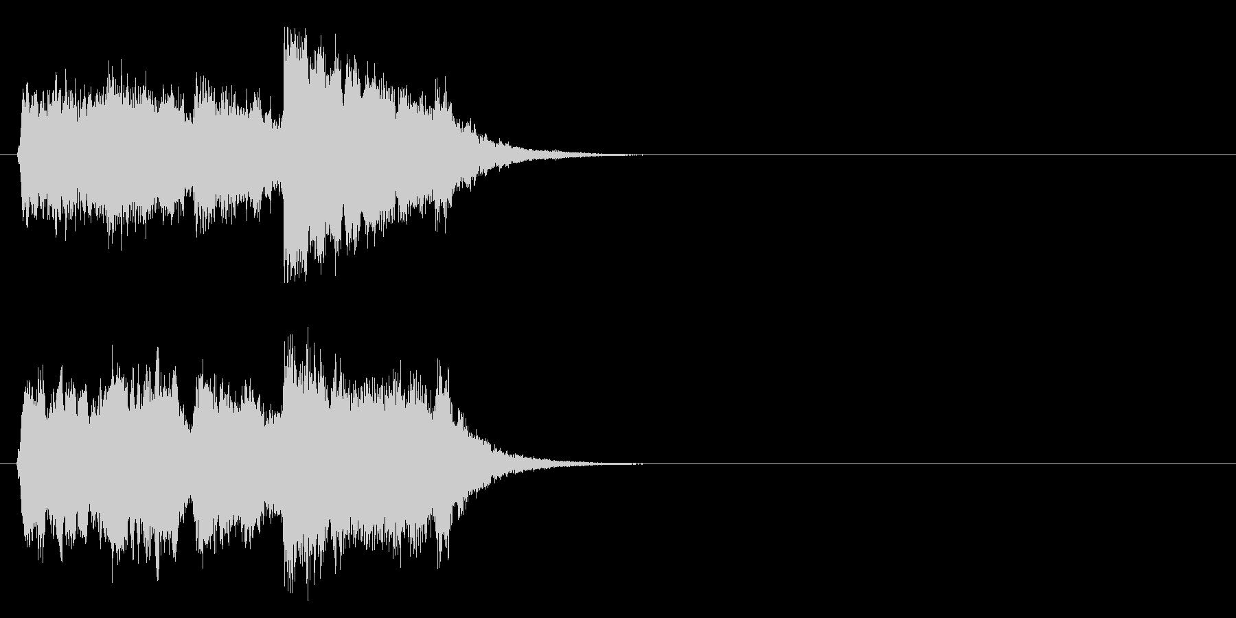 ジングル/アタック(聡明なチャイム風)の未再生の波形