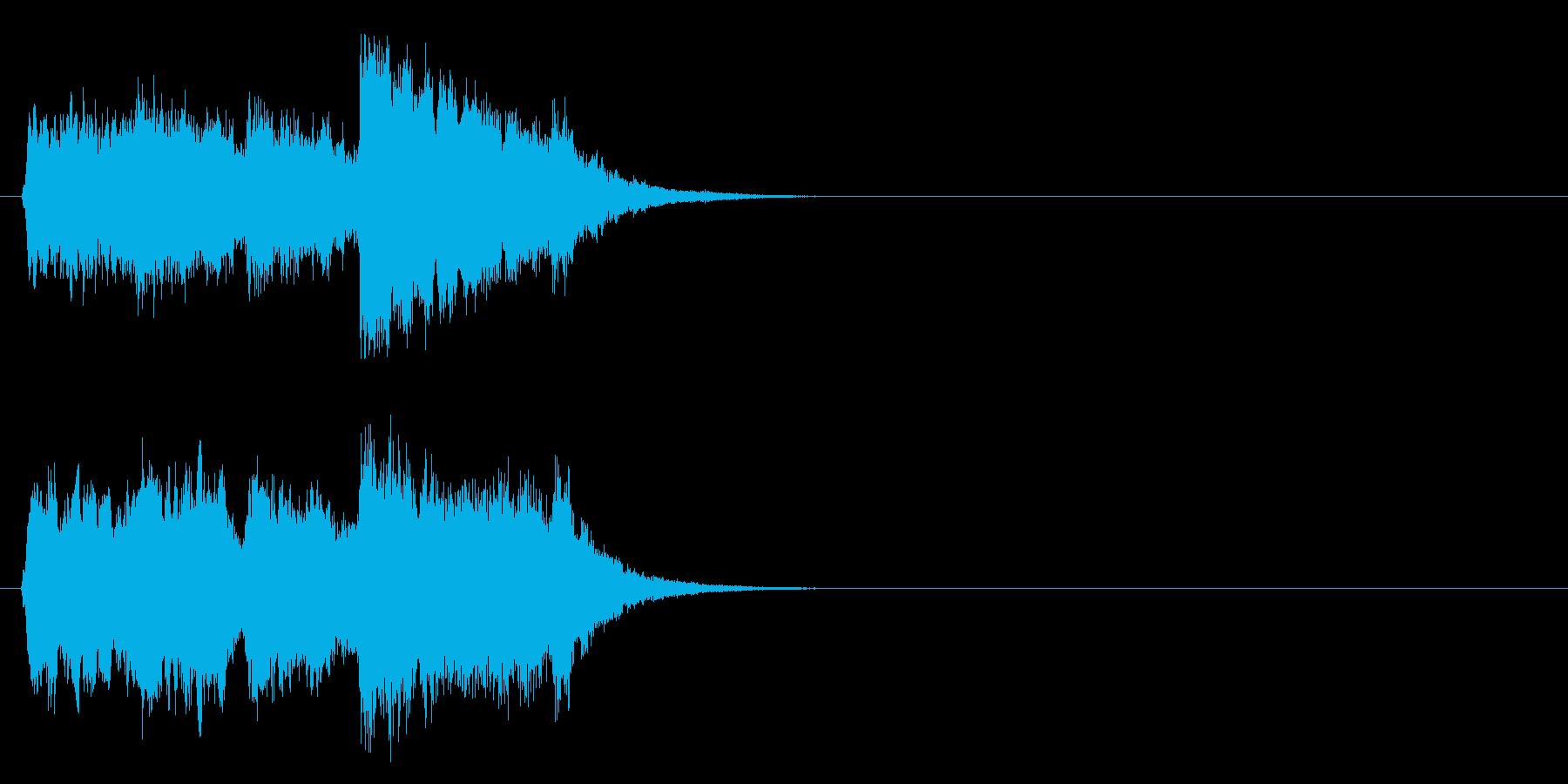 ジングル/アタック(聡明なチャイム風)の再生済みの波形