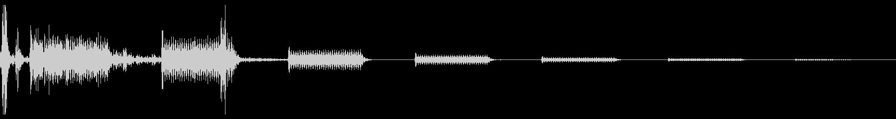 カチッピピピピッ(ターゲット選択音の未再生の波形