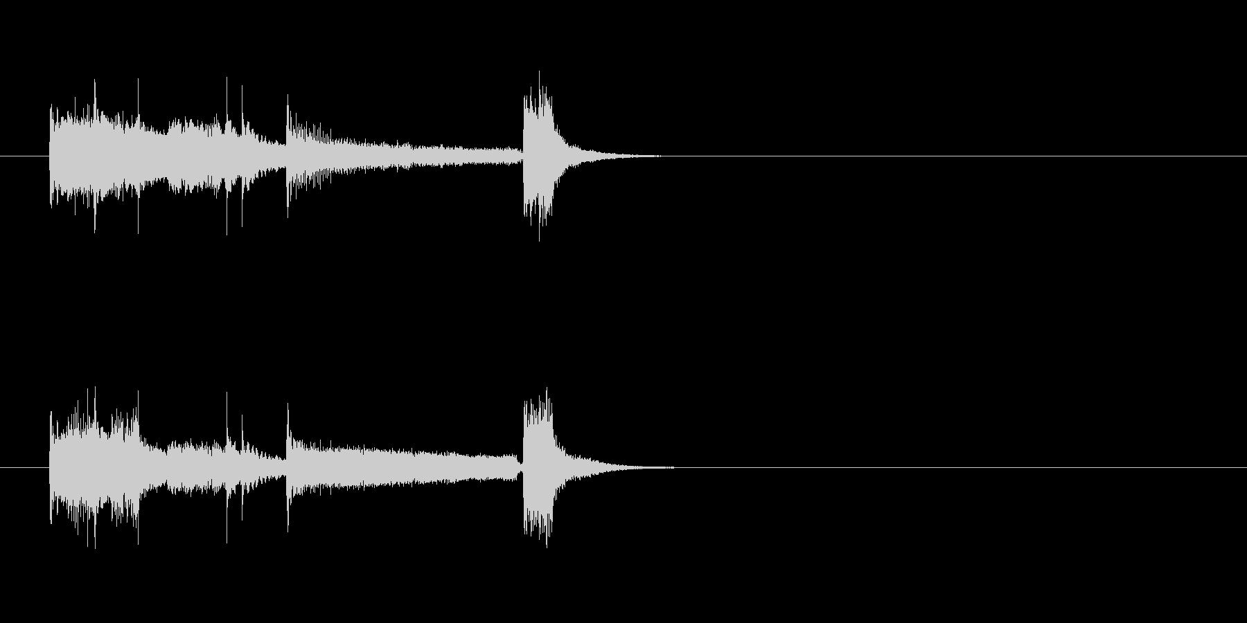 コミカル/おちゃらけものジングルの未再生の波形