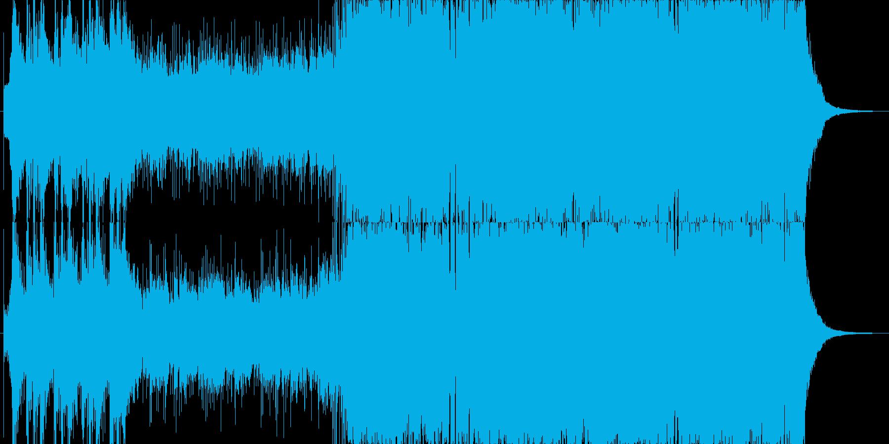 和風のオーケストラ〜ロック〜ポップスB1の再生済みの波形