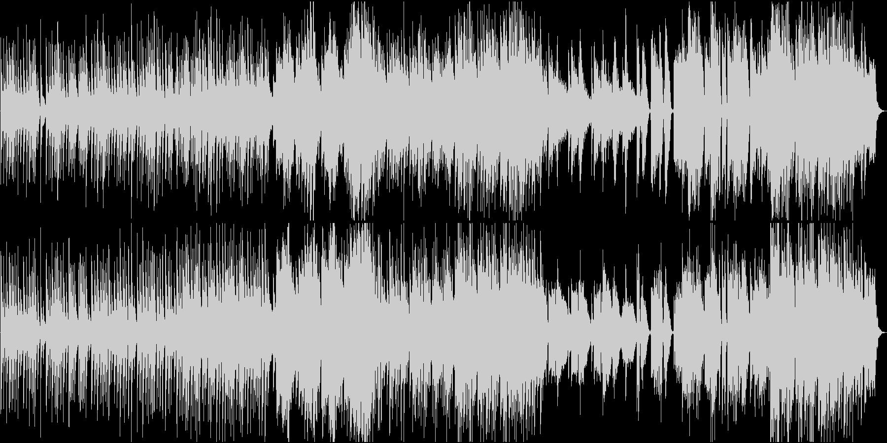 穏やかな日常的和風曲の未再生の波形