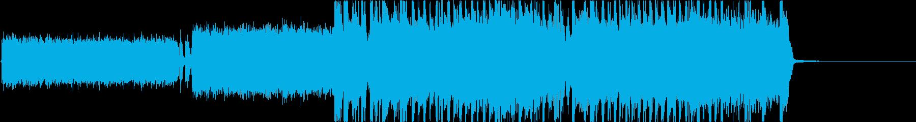 ヘビーメタル、ハードロック、リフ2の再生済みの波形