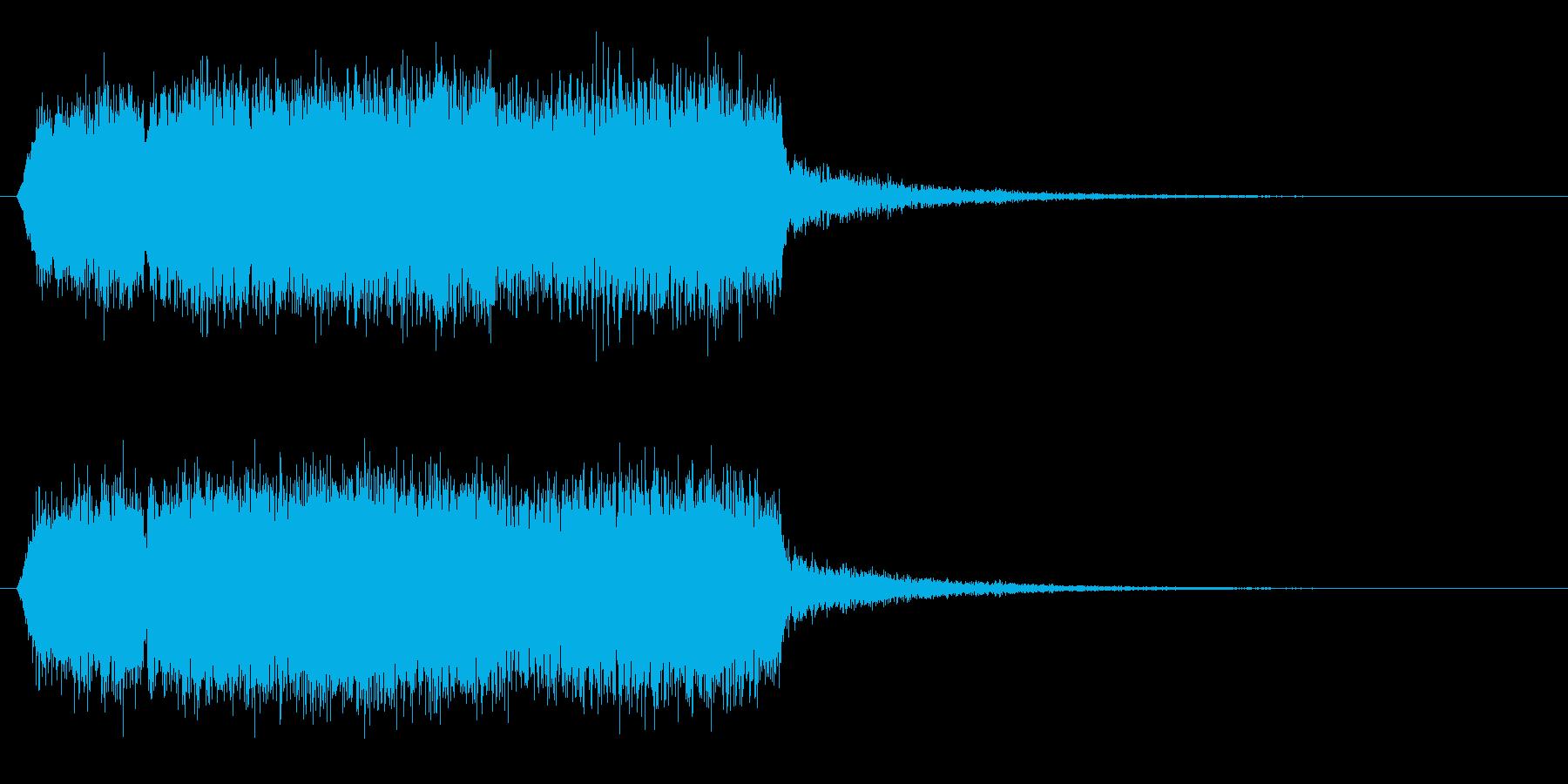 モンスターの鳴き声(グギャー2)の再生済みの波形
