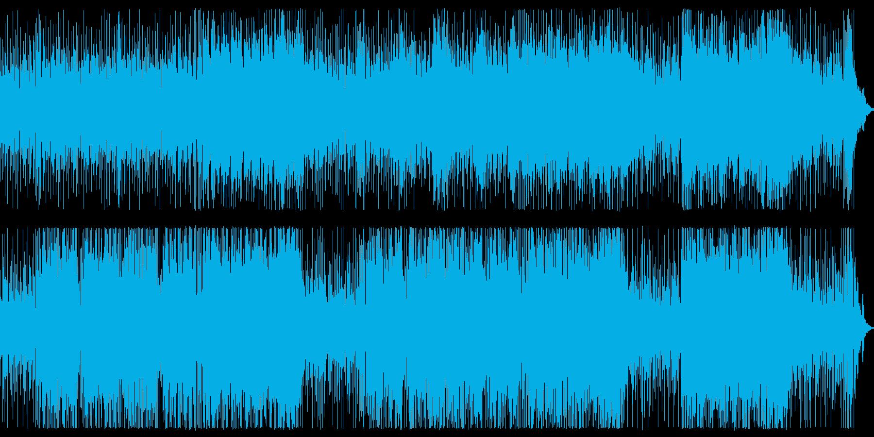 BGM用明るいインストの再生済みの波形