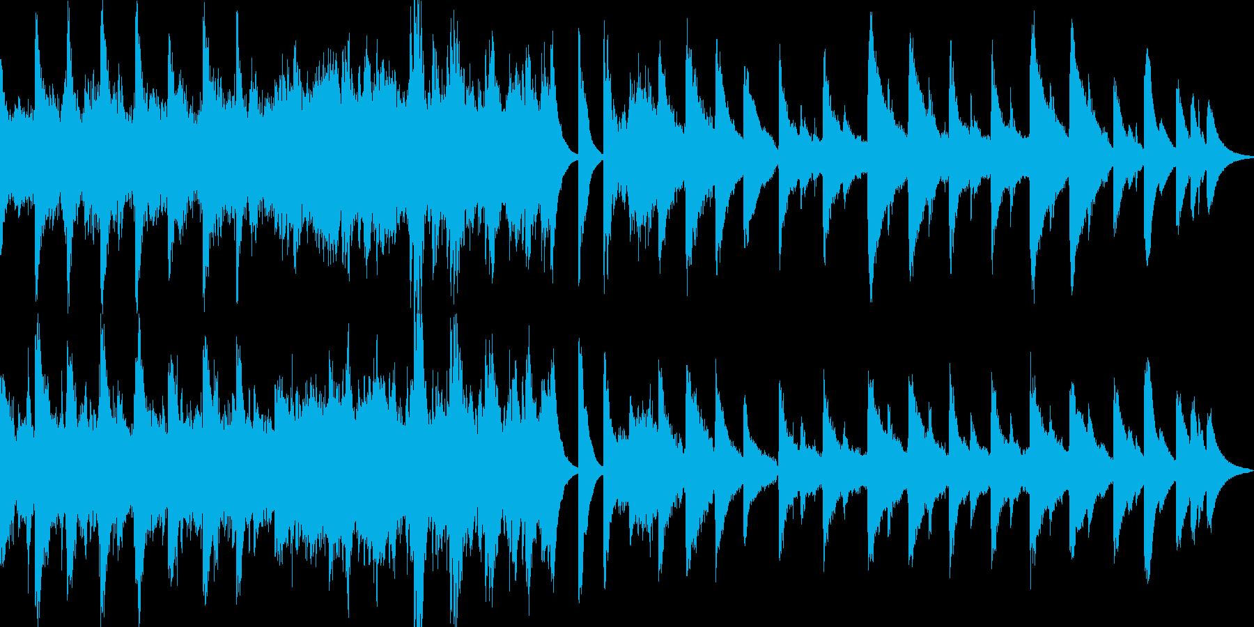 眠りの前に聴くアンビエントBGMの再生済みの波形