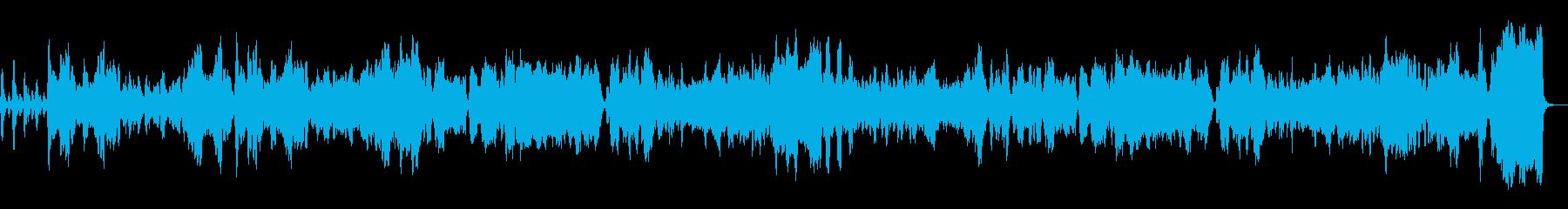 オーボエによるぼのぼのとしたワルツの再生済みの波形