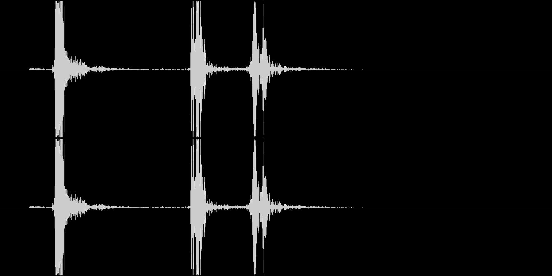 Typing キーボード 連打音の未再生の波形