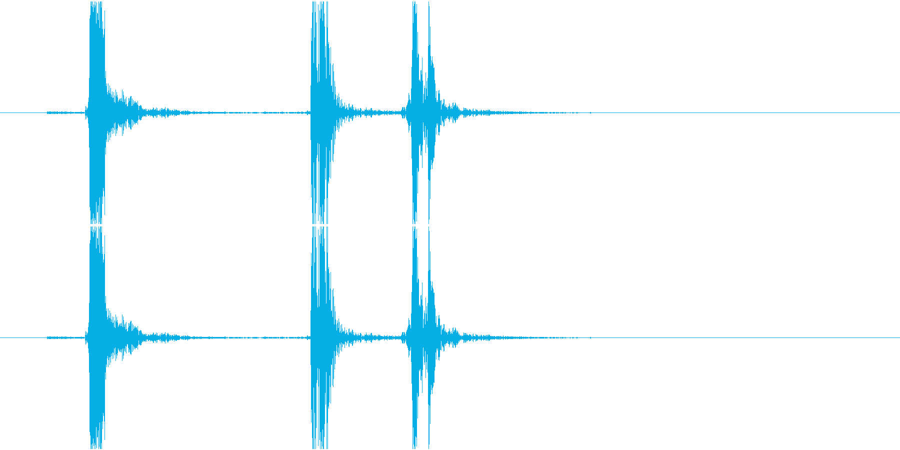 Typing キーボード 連打音の再生済みの波形