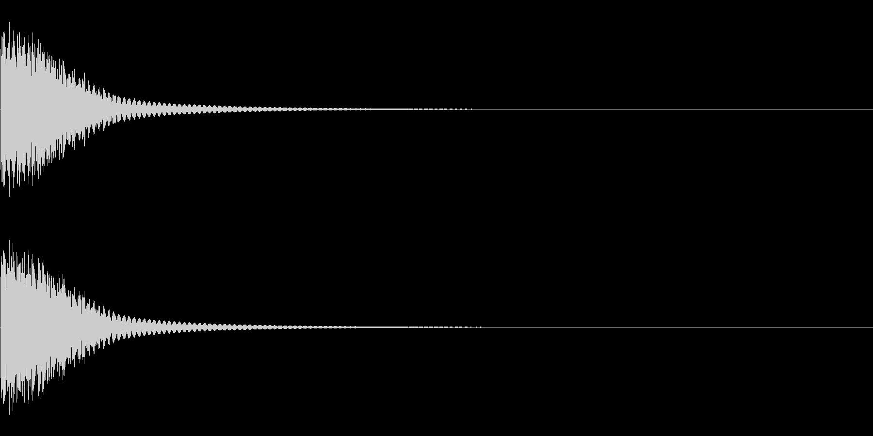ピーン1 発想する 思い浮かぶ 注釈 の未再生の波形