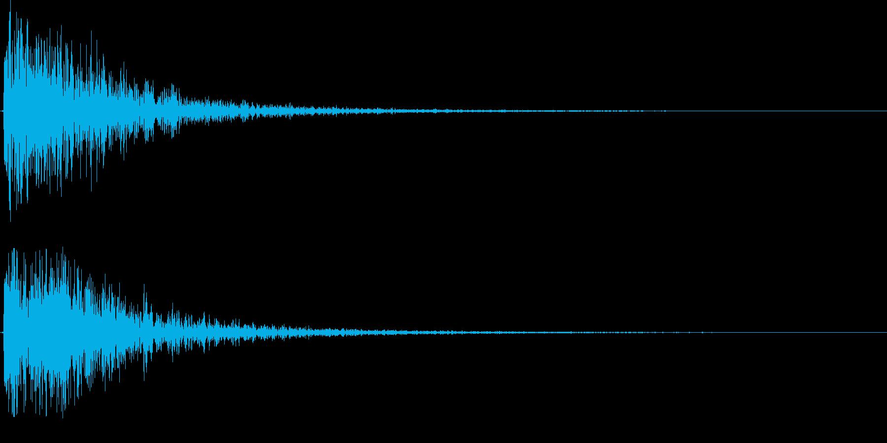 どぅごぉおおんの再生済みの波形