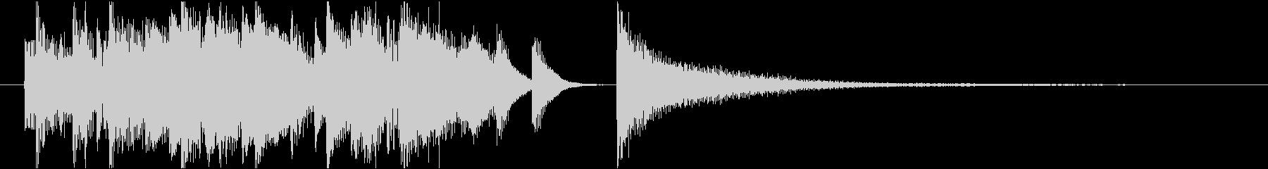 可愛らしくてポップなサウンドロゴの未再生の波形