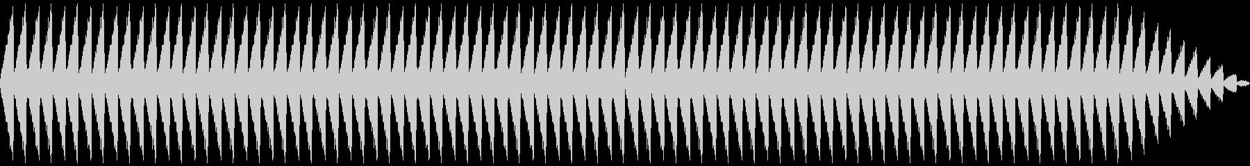 ホラー音源の未再生の波形
