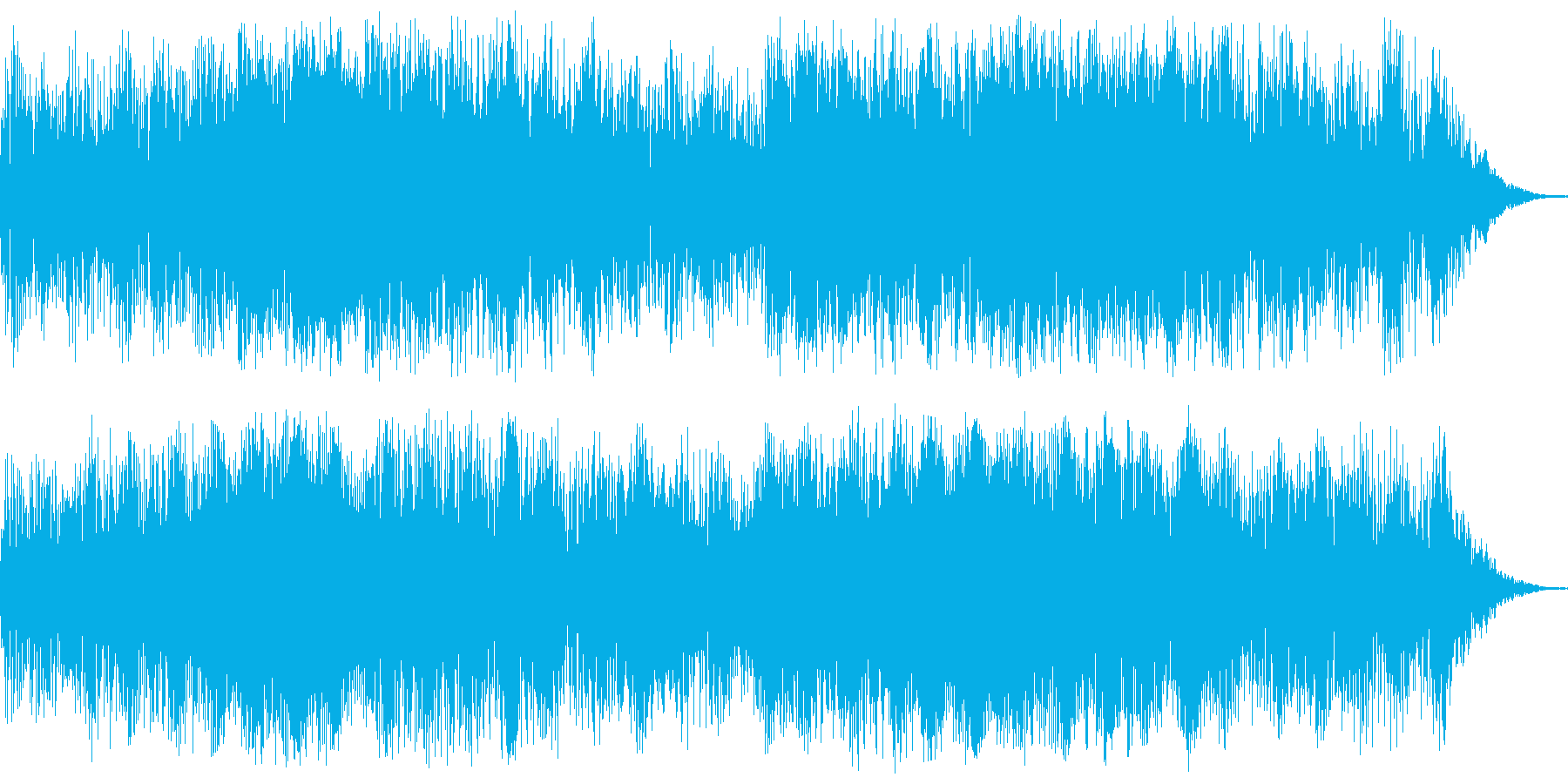 ジングル(緊張、恐怖、不安)の再生済みの波形