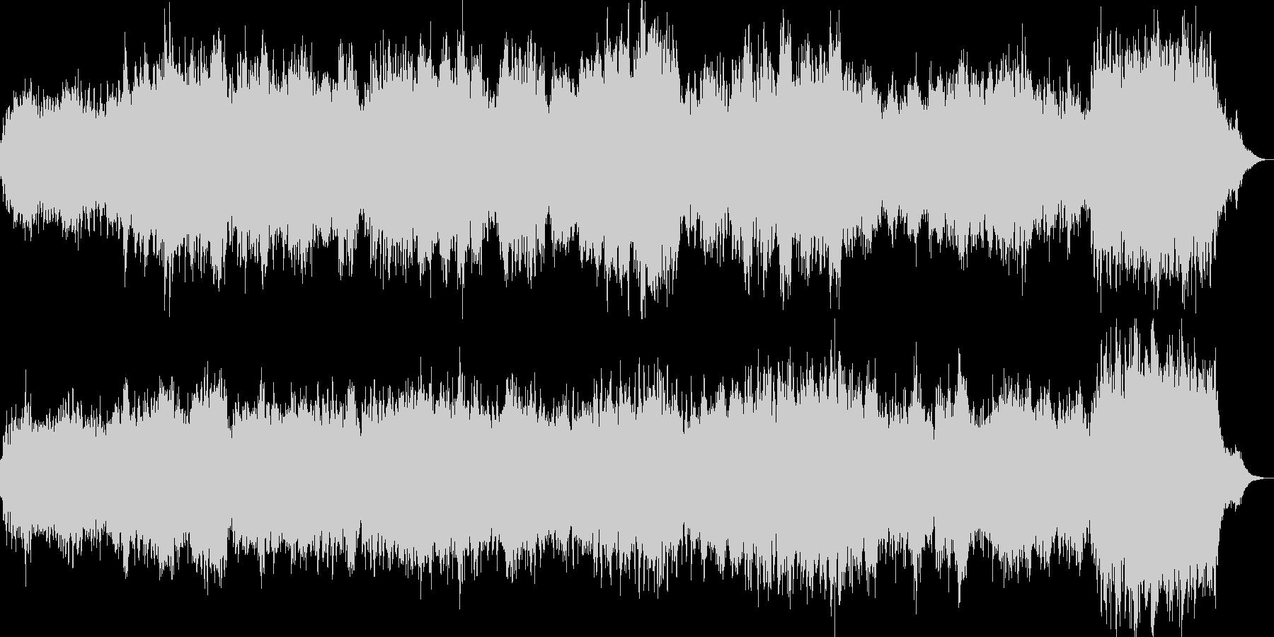 和風な雰囲気の癒し系サウンドの未再生の波形
