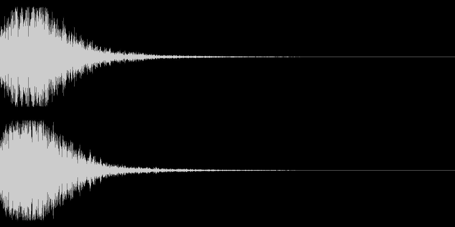 和風 オーケストラヒット ジングル!2bの未再生の波形