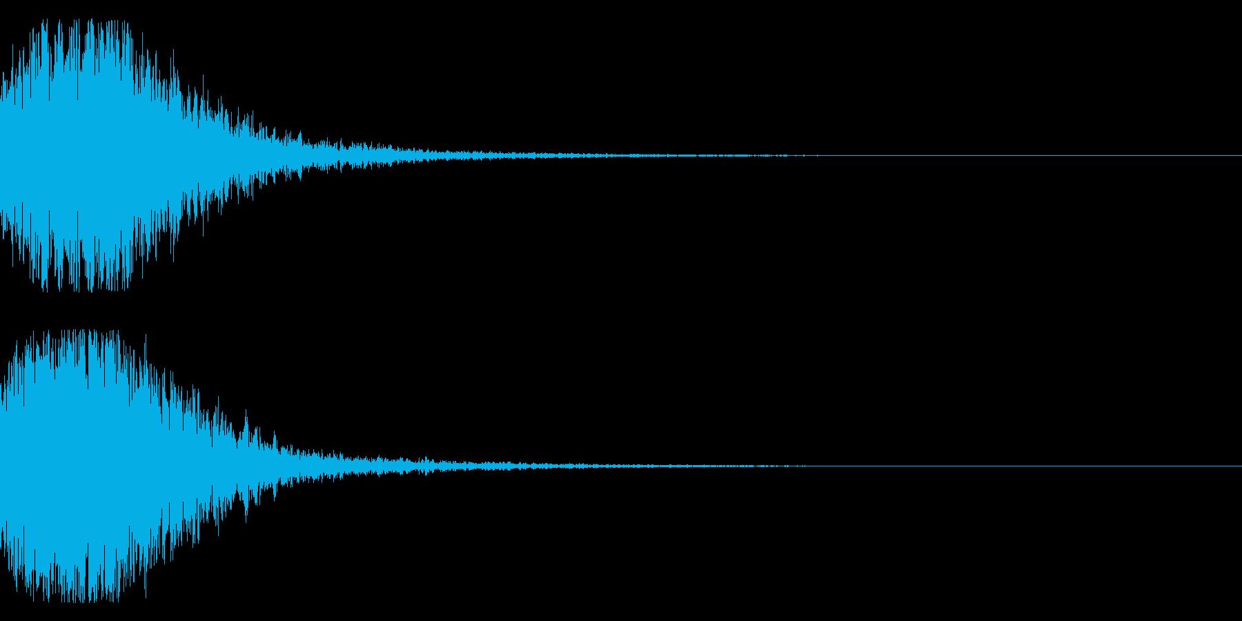 和風 オーケストラヒット ジングル!2bの再生済みの波形