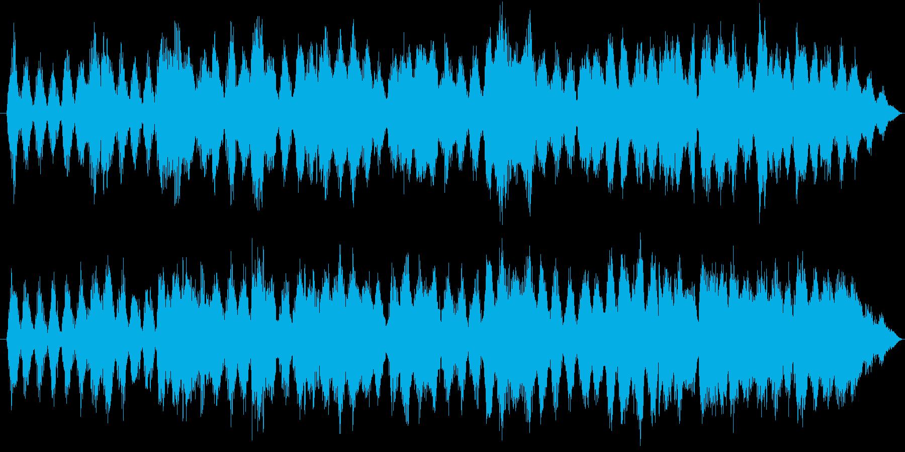 宇宙的で浮遊感のあるアンビエントの再生済みの波形