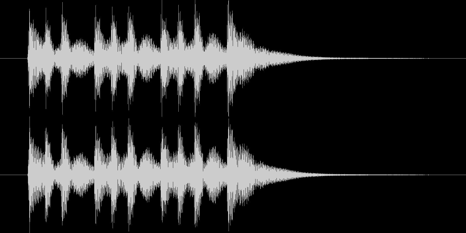 一本締め(手拍子+太鼓)の未再生の波形