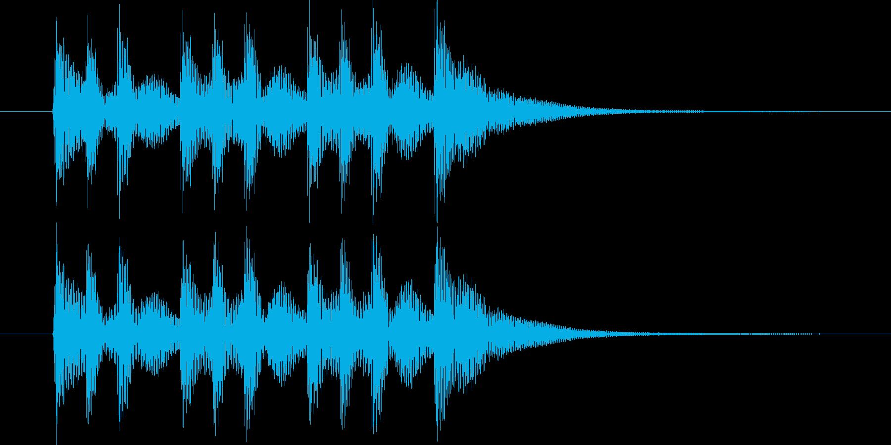 一本締め(手拍子+太鼓)の再生済みの波形