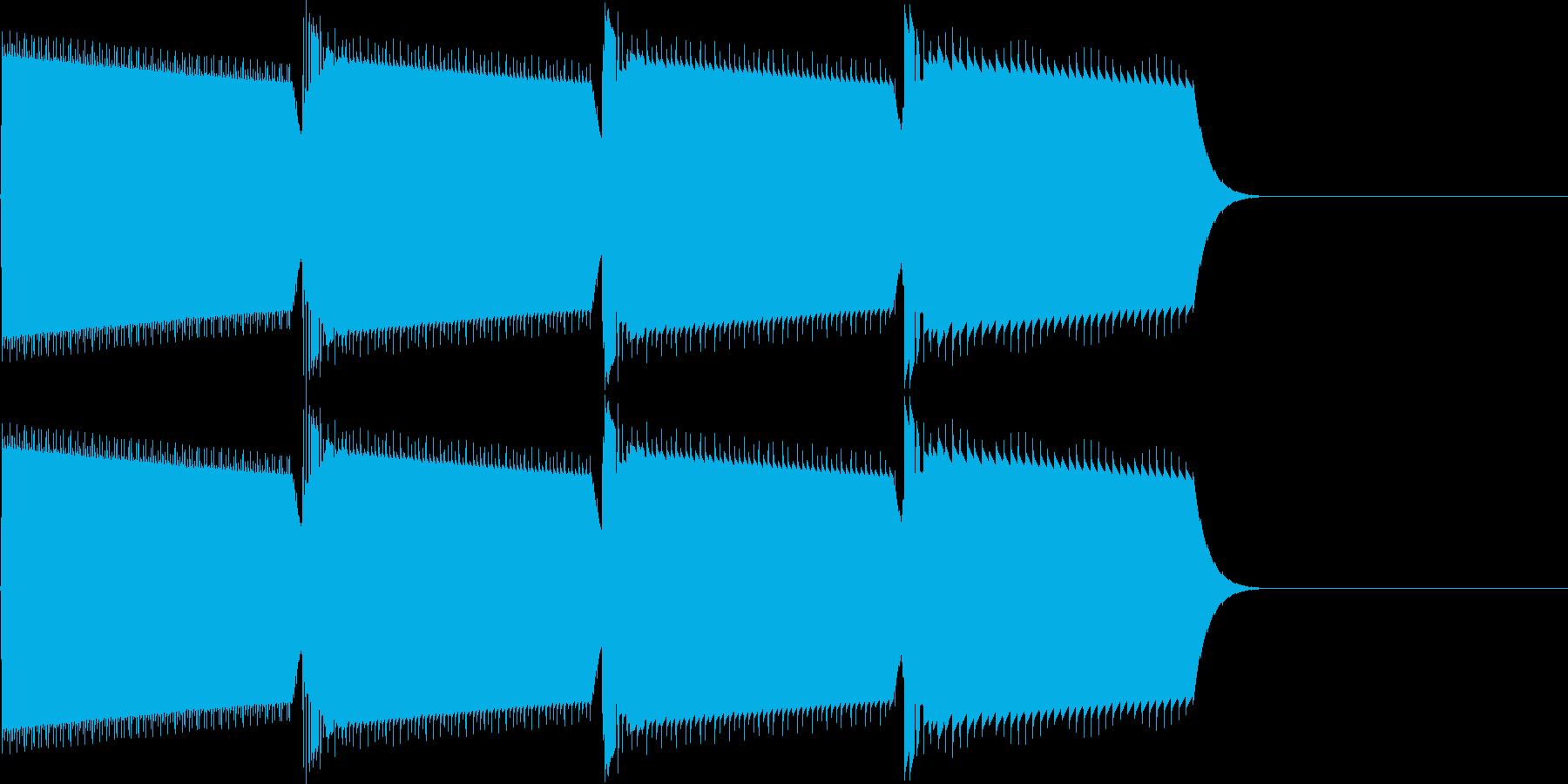 キャンセル音(ピロロロ)の再生済みの波形